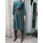 MAXIDRESS TOPOS VERDE